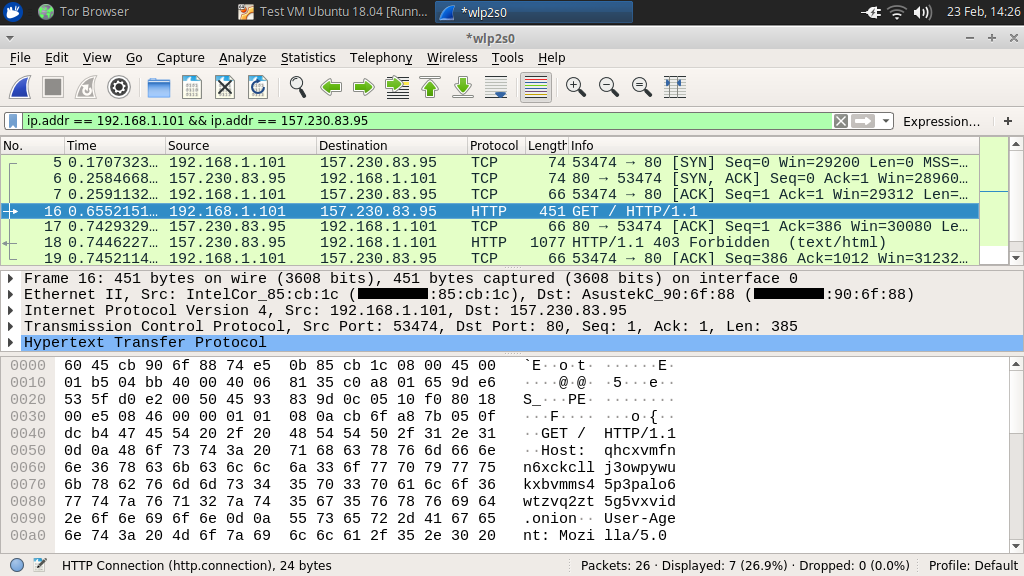 Forwarding Tor Hidden Services to Another Server Across the