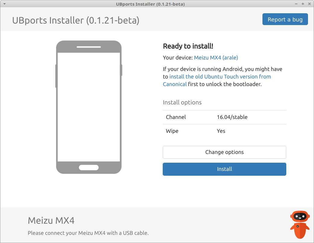 Installing UBports Ubuntu Touch on the Meizu MX4 Ubuntu Edition