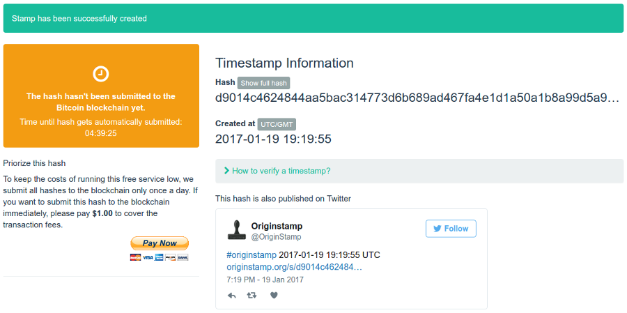 Proof Of Timestamp