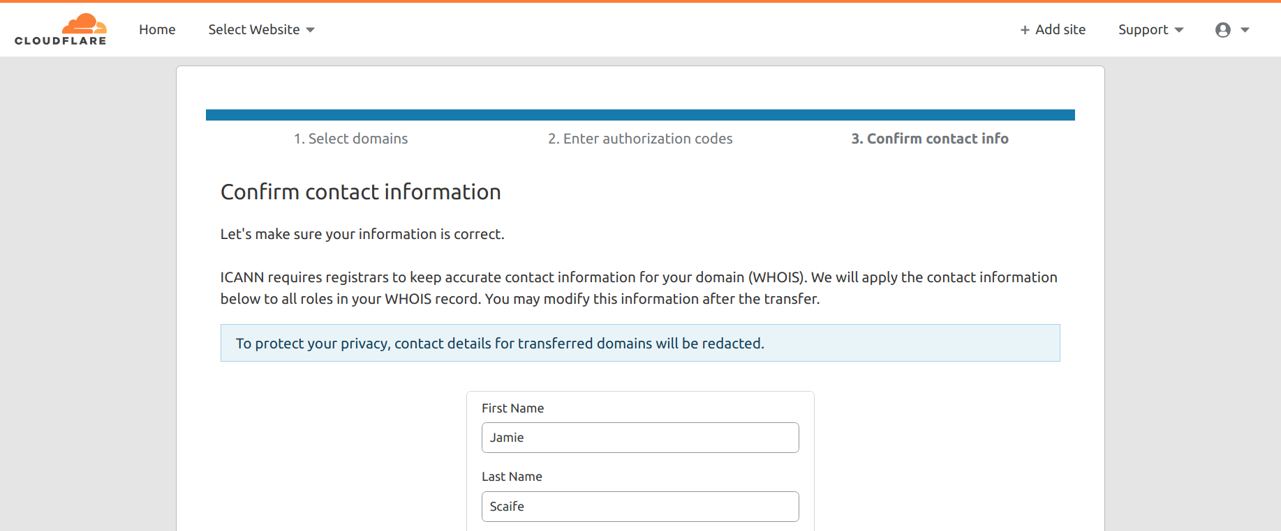 Transferring Domain Names to Cloudflare Registrar